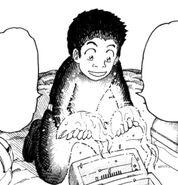 Komatsu holding Shining Gourami