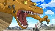 Paper Crocodile attacking Kopuriko