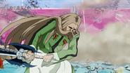 Yuda resists the shockwave