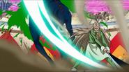 Yuda slashes Scum Beast