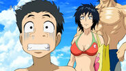 Komatsu and Rin seeing the Horse Island