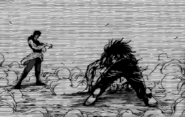 Ichiryuu defeating Midora in the past