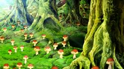 Pudding Trumpet Mushroom. Eps 36