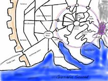 Numenera Sagus Cliffs Stadtplanskizze