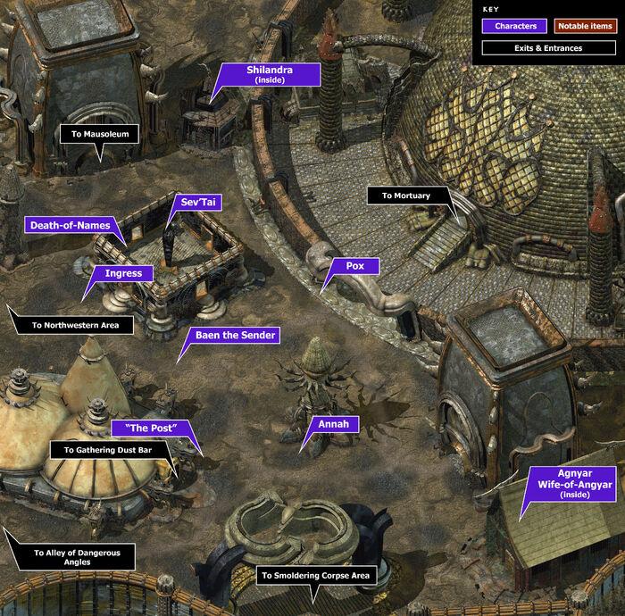 Mortuary area map