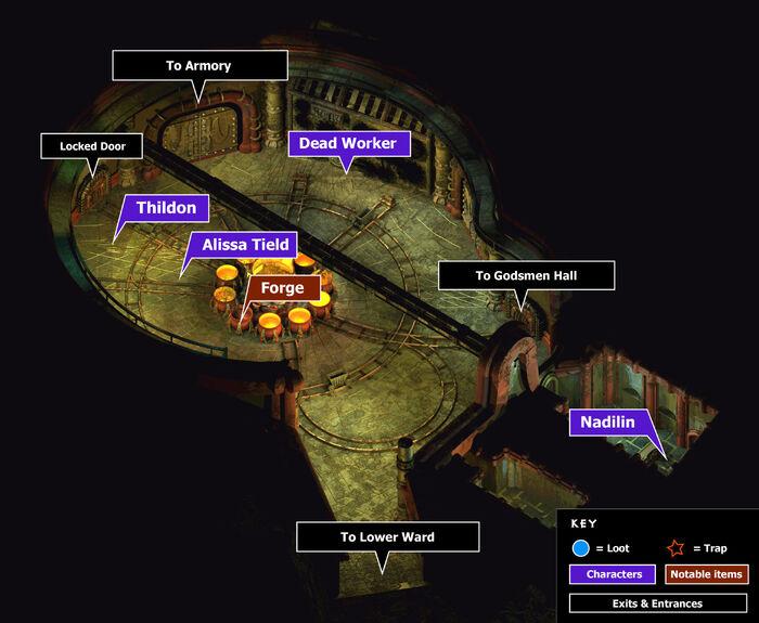 Great foundrymain hall map
