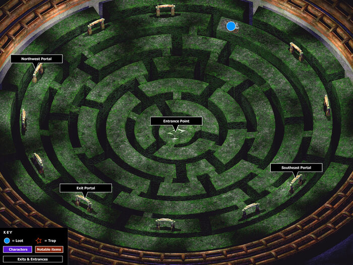 Players maze map