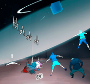 Koon teleporta al equipo