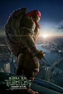 Poster final de Rapahel TMNT 2014