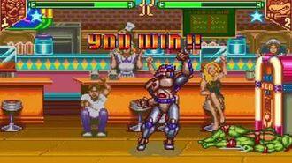 Teenage Mutant Ninja Turtles - Tournament Fighters (Super NES) Tournament as Chrome Dome
