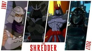 THE SHREDDER Evolution in Movies and Cartoons (1987-2017) TMNT