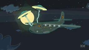 Aliens plane