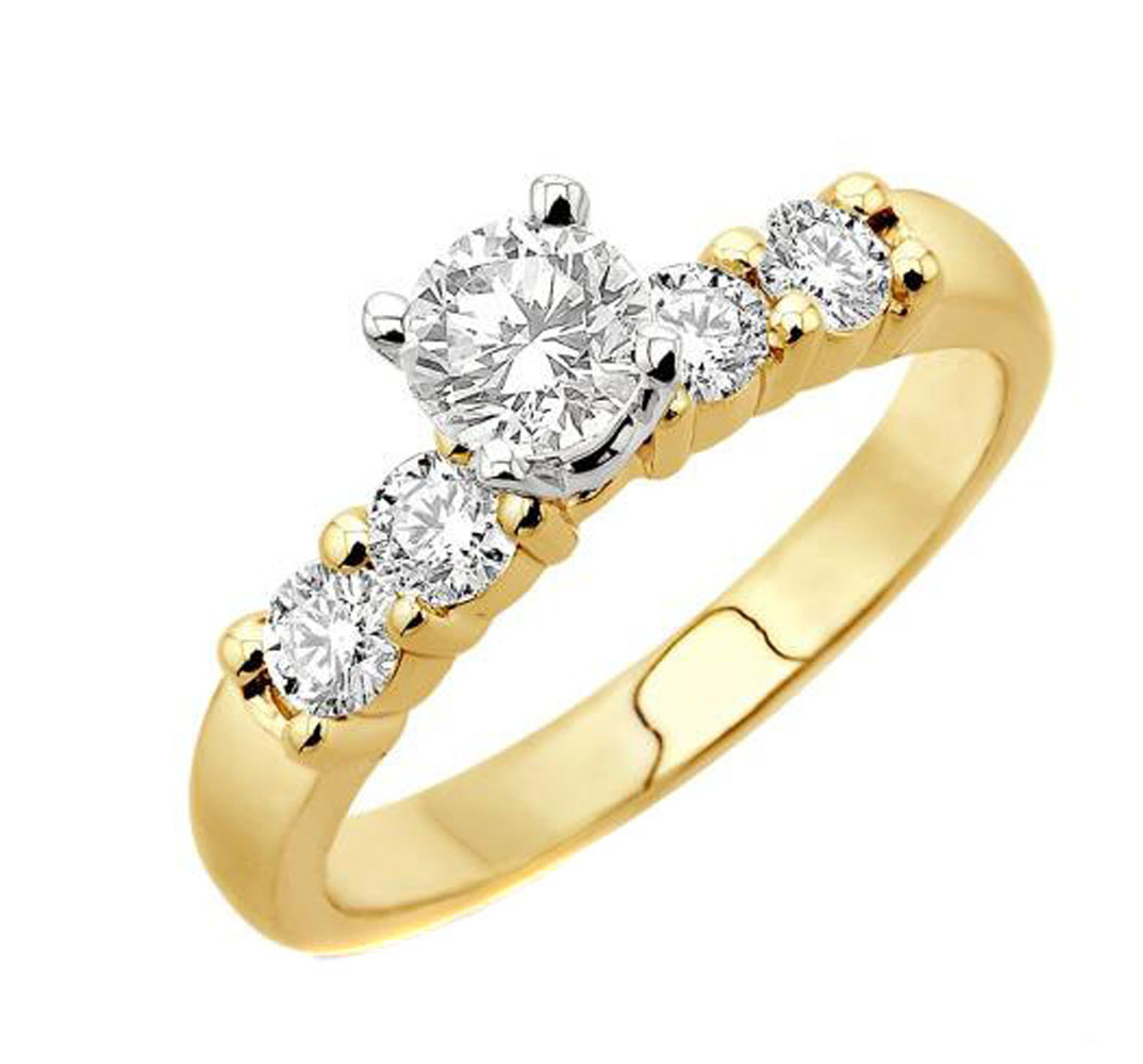 stone jewellery ring diamond brilliant gold bridal image yellow rings cut