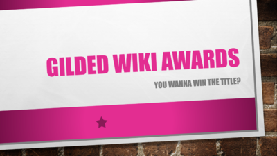 Gilded Wiki Awards Pink