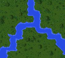 Evad River Confluence