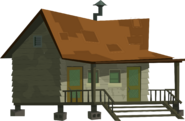 The Deadly Parrots' Cabin Prop