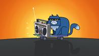 Grumpy cat stops macarthur