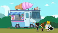 Ice cream truck is here