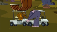 Golf cart yeti
