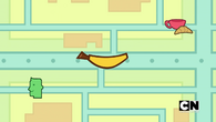 Noaah finds banana car by using a gps