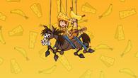 Duncan's parents on a horse