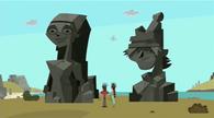 Easter island lindsay ezekiel heads