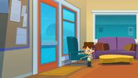 Cody shuts the front door