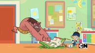 Caveman destroys things
