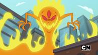 A fire monster