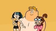 Gwen, Owen, and Beth in swimsuits surprised