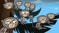 Tricked monkey