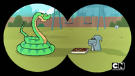 Owen sees snake