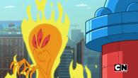 Dunc stops fire monster