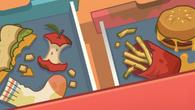 Food in cubbies