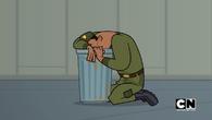Soldier vomits