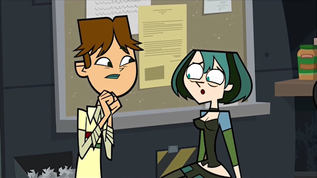 image cody and gwen face total drama wiki. Black Bedroom Furniture Sets. Home Design Ideas