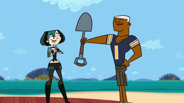 File:Lightning gives a shovel to Gwen.png