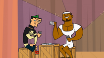 Duncan and dj play cards