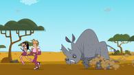 Ice dancers rhino