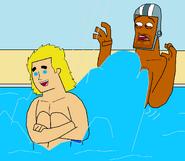 Dirk splashes Jerome fanart