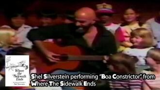 "Shel Silverstein performs ""Boa Constrictor"" from Where the Sidewalk Ends - The Thinkpierce Store"