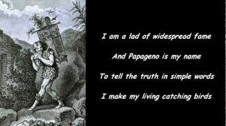 Papageno - Magic Flute (Titled English version)