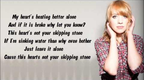 Alexz Johnson - Skipping Stone (Lyrics Video)
