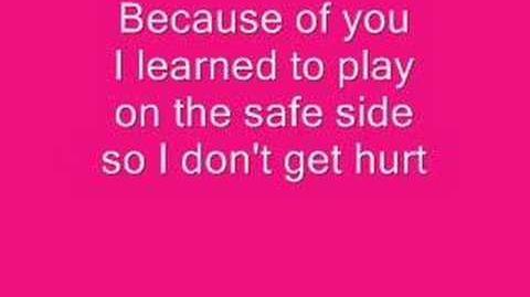 Kelly Clarkson Because Of You Lyrics.