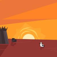 Gull Sunset