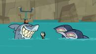 S05E01 Gwen, Kieł, Mike i rekiny