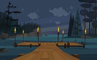 Port Wstydu nocą