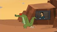 Robot krokodyla zaczyna się dziwnie zachowywać po przełknięciu Shawna.