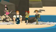 S05,2E01 Uczestnicy lądują na wyspie