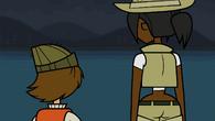 Jasmine i Shawn nad jeziorem